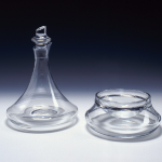Decanter and caviar bowl